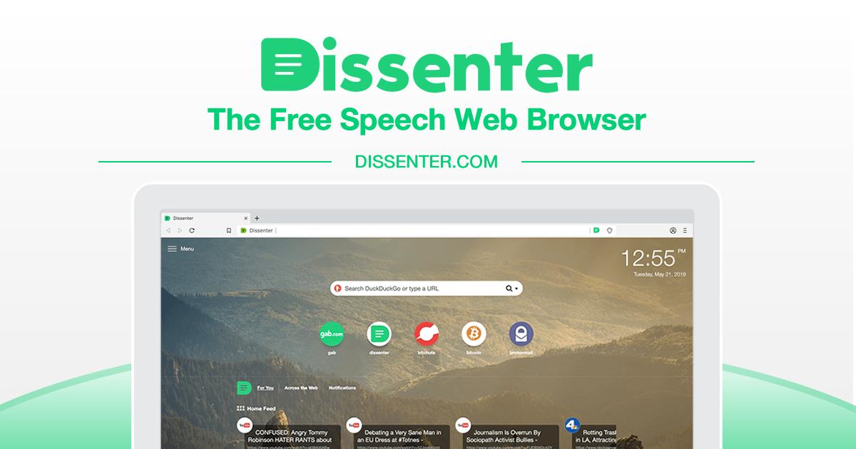 Dissenter | Free Speech Web Browser
